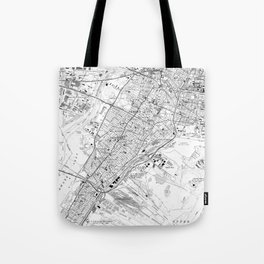Vintage Map of Jersey City NJ (1967) BW Tote Bag