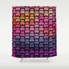 Sherbet Watercolor Stormtroopers Shower Curtain