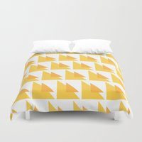orange pattern Duvet Covers featuring Orange Pattern by MarianaLage