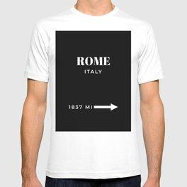 Rome Art Travel Art Rome Wall Art Italy Poster Black And White Fashion Poster Modern Home Decor T-shirt