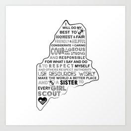 Girl Scout Law Art Print