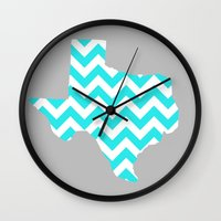 texas Wall Clocks featuring TEXAS by natalie sales