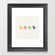 Four C Horsies Framed Art Print