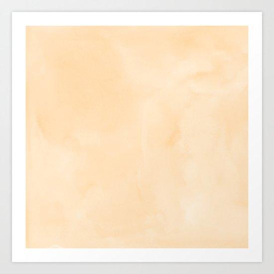 Simply Orange Sherbet Watercolor Art Print