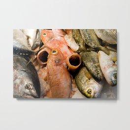Fish at La Boqueria  Metal Print