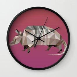 Geometric Armadillo Wall Clock