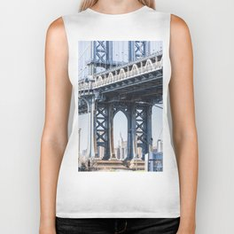 Manhattan Bridge Empire Blue Biker Tank