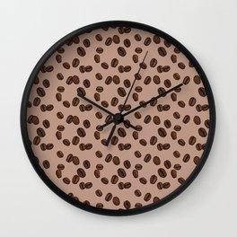 Coffee Beans - Latte Wall Clock