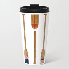 American Painted Oars Metal Travel Mug