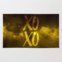 xoxo Area & Throw Rugs featuring XOXO by cat&wolf