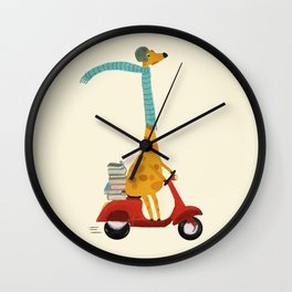 college days Wall Clock