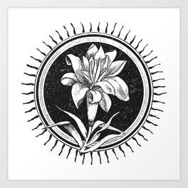 White flower Flor blanca Art Print