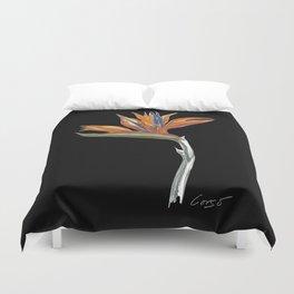 Bird of Paradise 01b Botanical Flower Duvet Cover