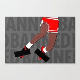 Banned (Grey) Canvas Print