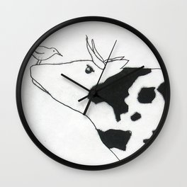 Bird & Cow Wall Clock