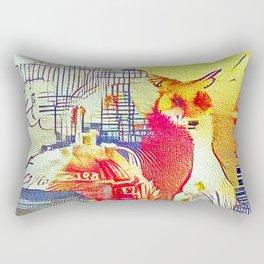 City Fox Rectangular Pillow