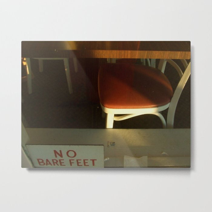 no bare feet Metal Print