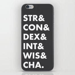 Dungeons and Dragons Abilities iPhone Skin