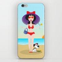 martini iPhone & iPod Skins featuring Martini Girl by Jyoti Khetan
