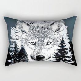 Forest Wolf Art Rectangular Pillow