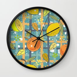 Orange and Lemons Wall Clock