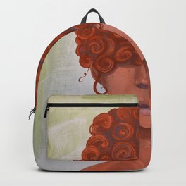 Curly redhead Backpack