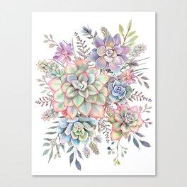 Watercolor Succulent #56 Canvas Print