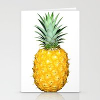 pinapple Stationery Cards featuring Big Pineapples by CumulusFactory
