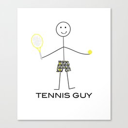 Funny Mens Tennis Guy Canvas Print