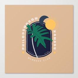 Philodendron Xanadu Members Club Canvas Print