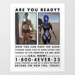 ARE  YOU  READY? Art Print