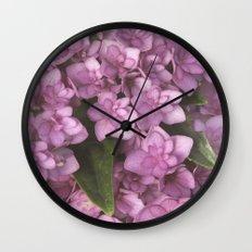 Double Bloom Hydrangea Wall Clock