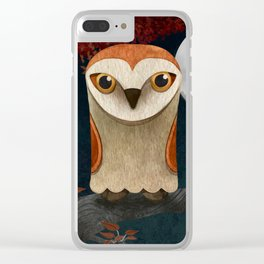 Deep in the Night, Owl Eyes Bright Clear iPhone Case
