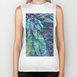 Feathers and Leaves Biker Tank