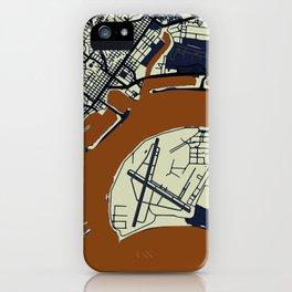 San Diego Street Map // Orange Theme iPhone Case