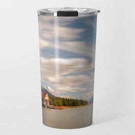 MALIGNE LAKE AUTUMN JASPER CANADA LANDSCAPE PHOTOGRAPHY Travel Mug
