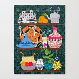 Moroccan shelf Canvas Print