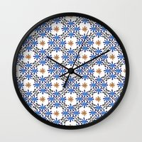 morocco Wall Clocks featuring Morocco by Charlotte Rigby