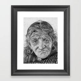 Spiderweb Traditional Portrait Print Framed Art Print