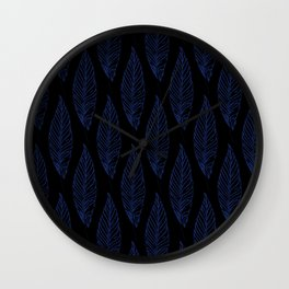 Golden Feathers Pattern Wall Clock