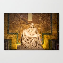 Michelangelo's Pieta Canvas Print