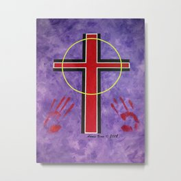 The Cross Of Salvation By Annie Zeno Metal Print