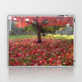 Oil crayon illustration of a red maple tree in the Boston Public Garden Laptop & iPad Skin