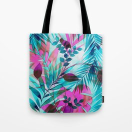 Colorful tropical leaves Tote Bag