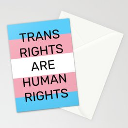 Trans rights are human rights - trans flag colors Stationery Cards