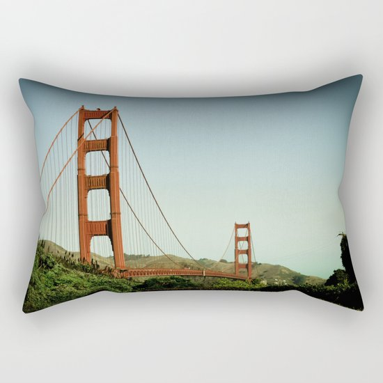 The Golden Gate Bridge at Day Rectangular Pillow