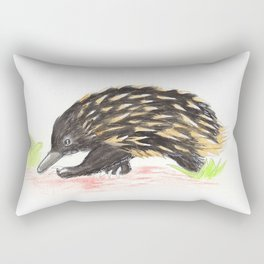 The Wondering Echidna Rectangular Pillow
