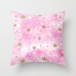 Pink Princess Throw Pillow