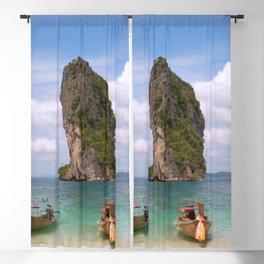 Phra Nang Beach, Thailand color photograph / photography by Jason Hutchens Blackout Curtain