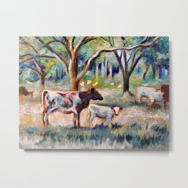 Cows and Trees (*Koinonia*) Metal Print
